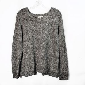 Madewell Province Open Back Sweater Pullover Gray